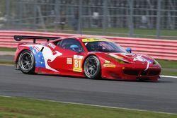 #81 AF Corse, Ferrari F458 Italia: Stephen Wyatt, Michele Rugolo, Rui Aguas
