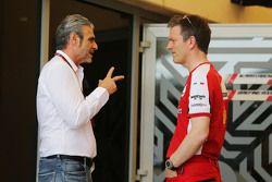 Маурицио Арривабене, руководитель Ferrari, и Джеймс Эллисон, технический директор