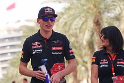 Max Verstappen, Scuderia Toro Rosso with Fabiana Valenti, Scuderia Toro Rosso Press Officer