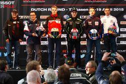 Larry Pegram, Team Hero EBR, Ayrton Badovini, BMW Motorrad Italia, Chaz Davies, Ducati Team, Jonathan Rea, Kawasaki, Sylvain Guintoli, Pata Honda, et Michael van der Mark, Pata Honda