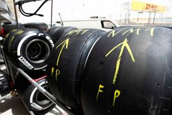 Pirelli tyres, marked for Nobuharu Matsushita, ART Grand Prix