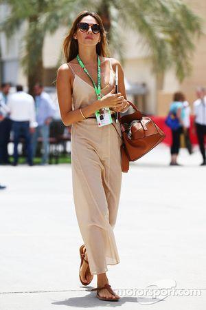 Jessica Button, wife of Jenson Button McLaren.