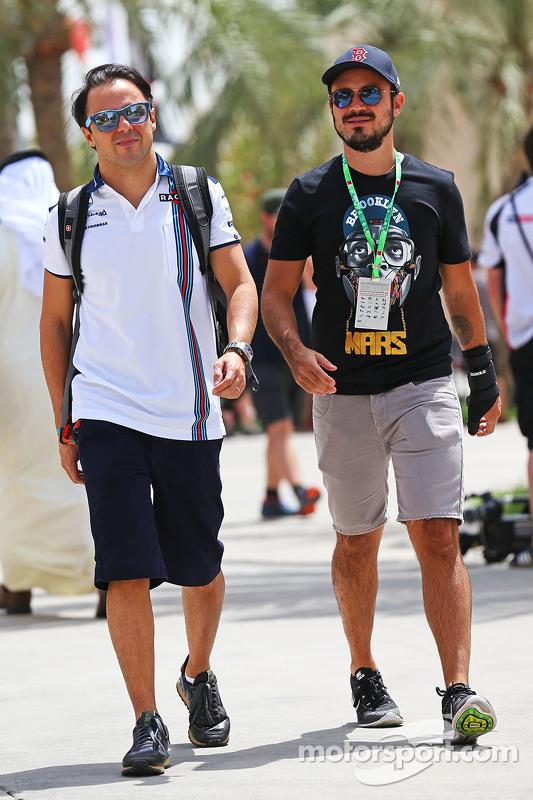 Felipe Massa Williams with his brother Dudu Massa.