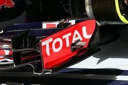 Detalle del alerón delantero del Red Bull Racing RB11