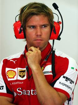 Antti Kontsas, Sebastian Vettel'in kişisel antrenörü, Ferrari