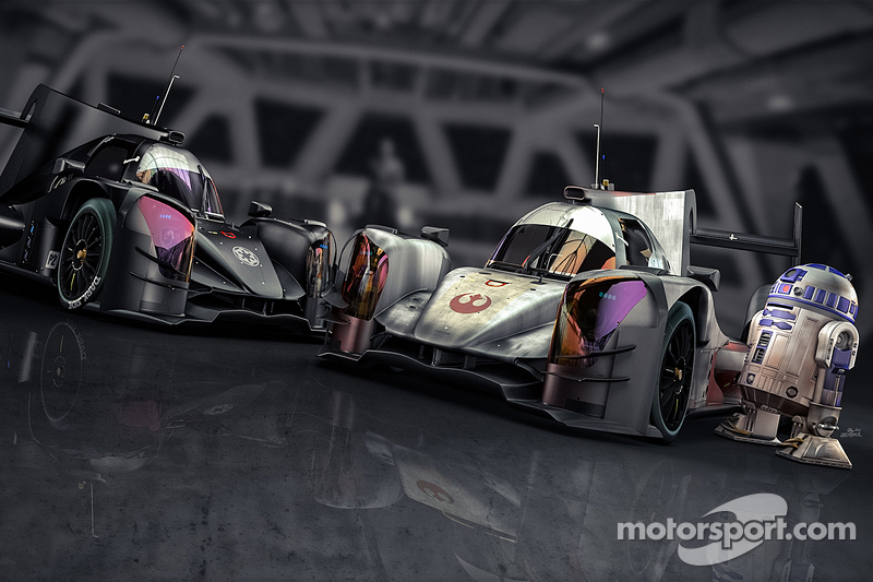 R2-D2 has a look at the ORECA X-Wing and DarkSide spec 06