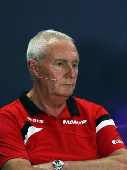 John Booth, Manor F1 Team. Director del equipo en la conferencia de prensa de la FIA