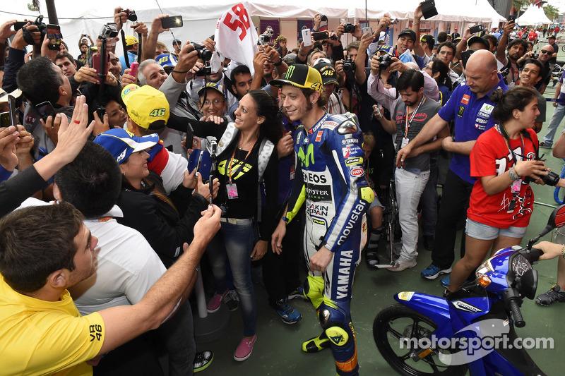 La pasión de los fans argentinos por Valentino Rossi es formidable, foto de 2015