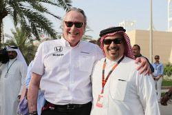 Mansour Ojjeh, McLaren shareholder with Crown Prince Shaikh Salman bin Isa Hamad Al Khalifa