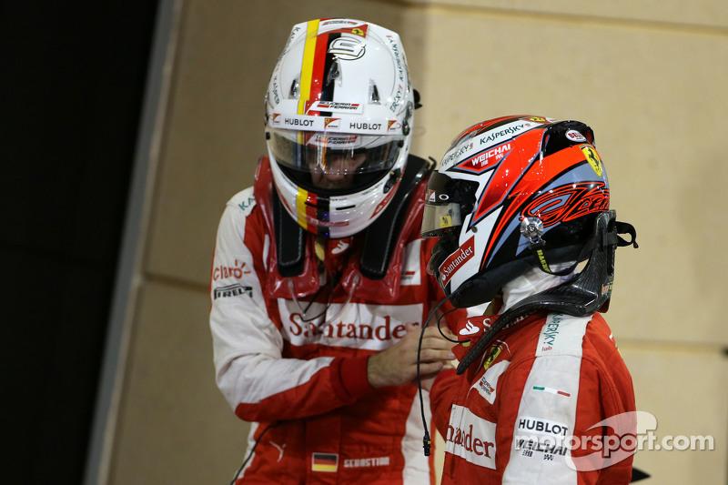 Kimi Raikkonen, dan Sebastian Vettel, Scuderia Ferrari