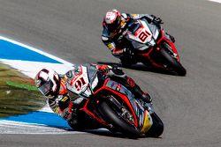 Leon Haslam, Aprilia Racing Team and Jordi Torres, Aprilia Racing Team