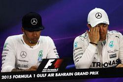 Льюис Хэмилтон, Mercedes AMG F1 с напарником Нико Росбергом, Mercedes AMG F1 на пресс-конференции ФИ