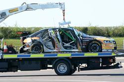 De beschadigde auto van Hunter Abbott, Exocet AlcoSense