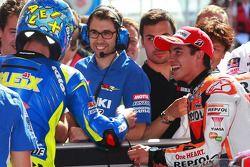 Pole position pour Marc Marquez, Repsol Honda Team, devant Aleix Espargaro, Team Suzuki MotoGP