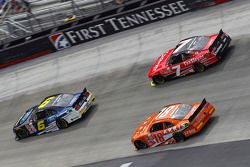 Darrell Wallace Jr., Roush Fenway Racing Ford, Regan Smith, JR Motorsports Chevrolet, Daniel Suarez, Joe Gibbs Racing Toyota