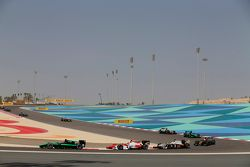 Richie Stanaway, Status Grand Prix and Daniel De Jong, MP Motorsport and Arthur Pic, Campos Racing