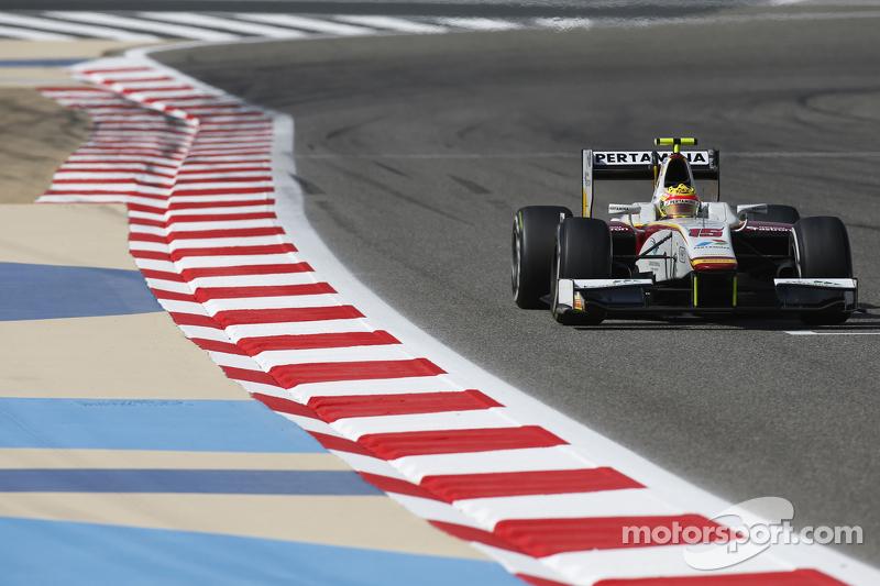 Rio Haryanto mengendarai mobil dari Campos Racing pada musim keempatnya di GP2.