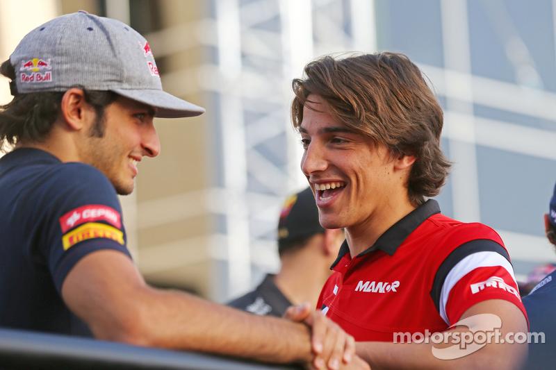 Carlos Sainz Jr., Scuderia Toro Rosso y Roberto Merhi, Manor F1 ...