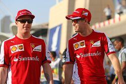Kimi Räikkönen und Sebastian Vettel, Ferrari
