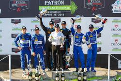 Podium: 3. #90 VisitFlorida.com Racing, Corvette DP: Richard Westbrook, Michael Valiante; 1. #10 Way