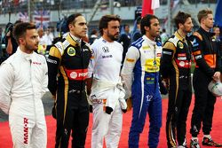 Pastor Maldonado, Lotus F1 Team, in der Startaufstellung