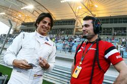 Roberto Merhi, Manor F1 Team, in der Startaufstellung