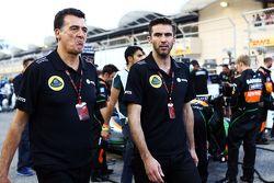 Federico Gastaldi, Lotus F1 Team Deputy Team Principal and Matthew Carter, Lotus F1 Team CEO on the