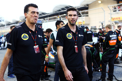 Federico Gastaldi, stellvertretender Teamchef Lotus F1 Team, und Matthew Carter, Geschäftsführer Lot