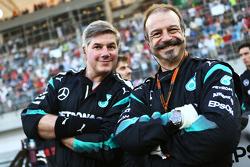 Mercedes AMG F1, Mechaniker in der Startaufstellung