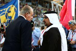 Der frühere spanische König Juan Carlos in der Startaufstellung