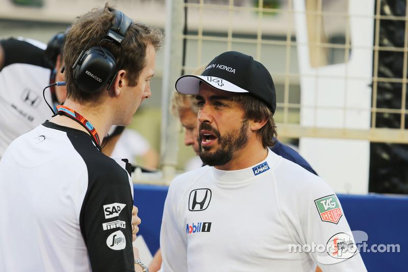 Fernando Alonso, McLaren on the grid