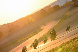Sunrise race action