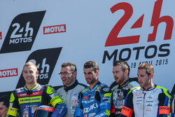 Podium: winners Vincent Philippe, Anthony Delhalle, Etienne Masson