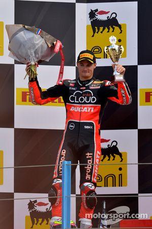 Chaz Davies, Ducati Team, sur le podium