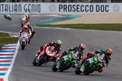 Tom Sykes, Kawasaki, Jonathan Rea, Kawasaki, Chaz Davies, Ducati Team