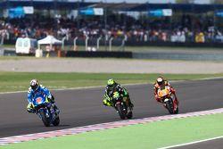 Maverick Viñales, Team Suzuki MotoGP en Pol Espargaro, Monster Yamaha Tech 3 en Stefan Bradl, Athina