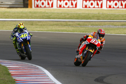 Marc Marquez, Repsol Honda Team and Valentino Rossi, Yamaha Factory Racing