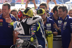 Valentino Rossi, Yamaha Factory Racing and Cal Crutchlow, Team LCR Honda