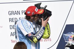 Podio: ganador Valentino Rossi, de Yamaha Factory Racing