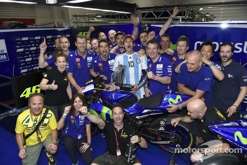 Ganador Valentino Rossi, de Yamaha Factory Racing