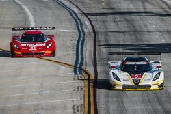 #31 Action Express Racing Corvette DP: Eric Curran, Dane Cameron and #5 Action Express Racing Corvette DP: Joao Barbosa, Christian Fittipaldi