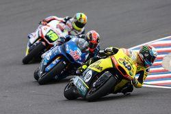 Alex Rins, Paginas Amarillas HP 40, Mika Kallio, Italtrans Racing Team et Xavier Siméon, Federal Oil Gresini Moto2