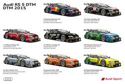 2015 Audi RS 5 DTM team liveries