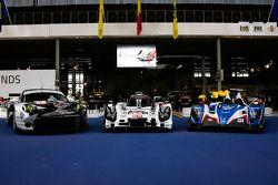 #19 Porsche Team 919 Hybrid and #47 KCMG Oreca 05 Nissan and #88 Proton Competition Porsche 911 RSR
