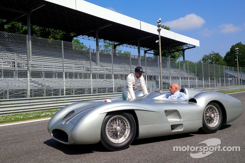 Lewis Hamilton, Mercedes F1 et Sir Stirling Moss à Monza