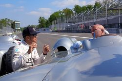 Lewis Hamilton, Mercedes F1, und Sir Stirling Moss in Monza
