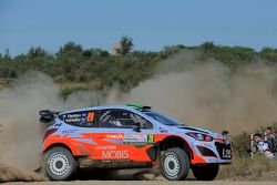 Hayden Paddon et John Kennard, Hyundai I20 WRC, Hyundai Motorsport N