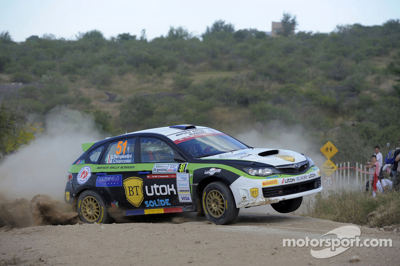 Simone Tempestini y Matteo Chiarcossi, Subaru Impreza, Napoca Rally Academi