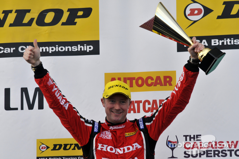 Podium: Third placed Gordon Shedden