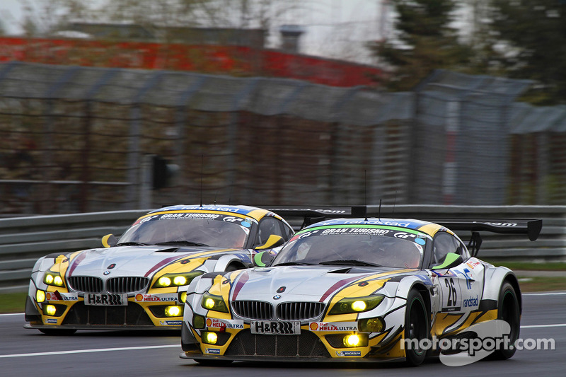 #25 BMW Sports Trophy Team Marc VDS BMW Z4 GT3: Lucas Luhr, Markus Palttala, Richard Westbrook and #